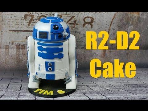 Star Wars R2 D2 Torte 3d Torte Cake Tutorial Zuckerwerk Star Wars Kuchen Zuckerkleber