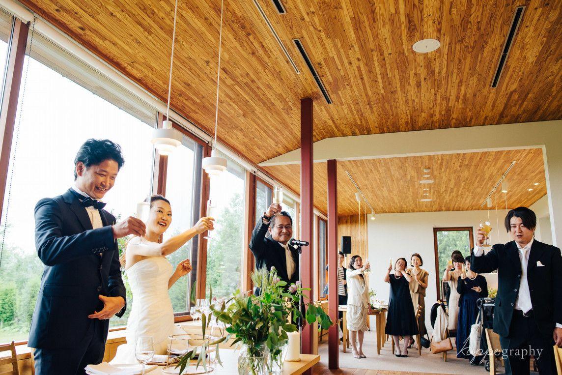 北海道 美瑛での結婚式 ウェディングフォト ウェディング 結婚式 当日