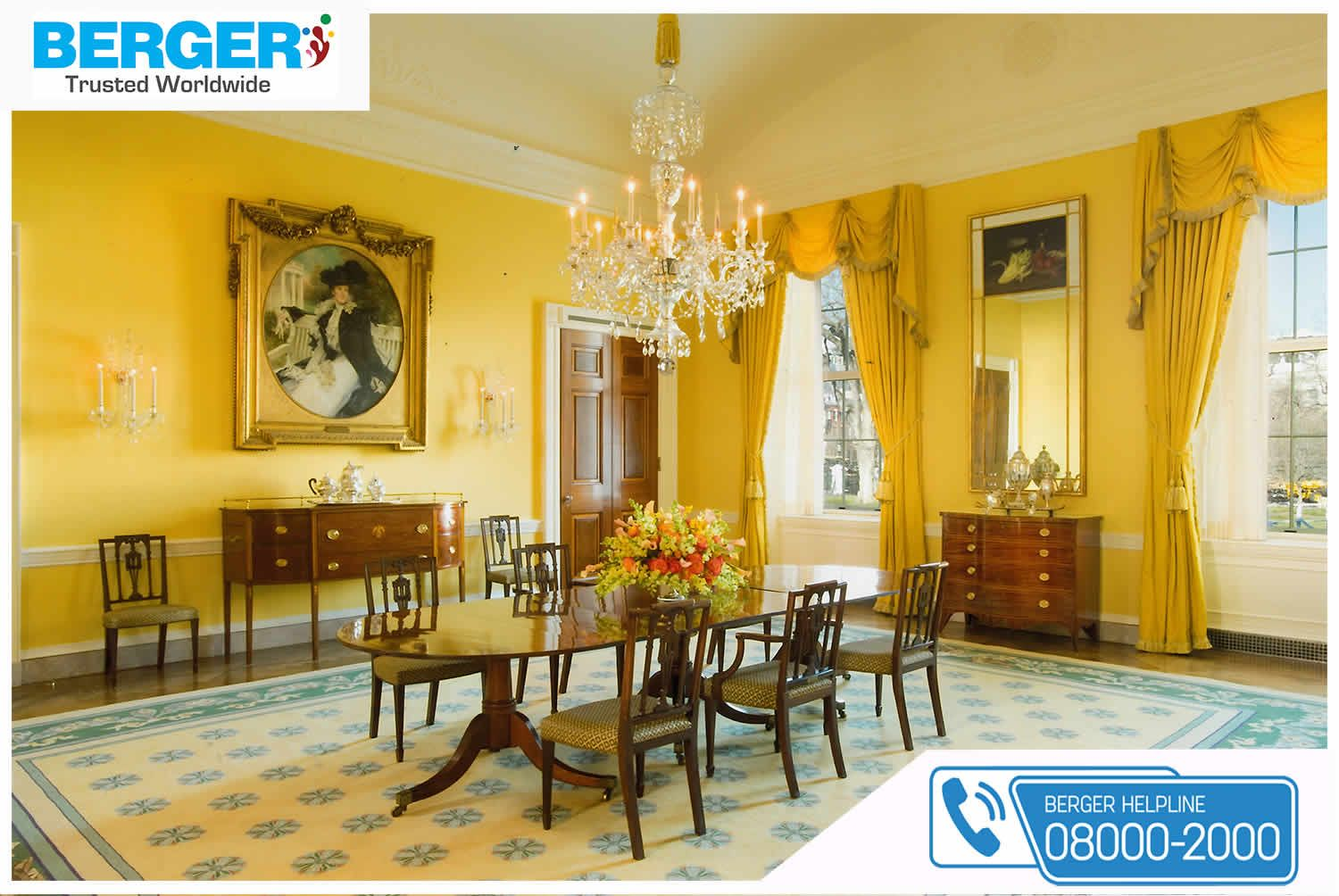 Beautify The Dining Room Berger Paints Paints Paint Color Colour Dining Hall Decor