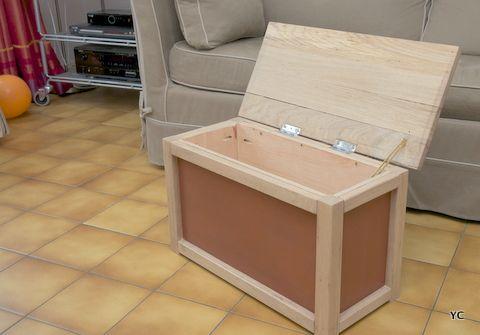 comment fabriquer un coffre en bois DIY meuble   déco Pinterest