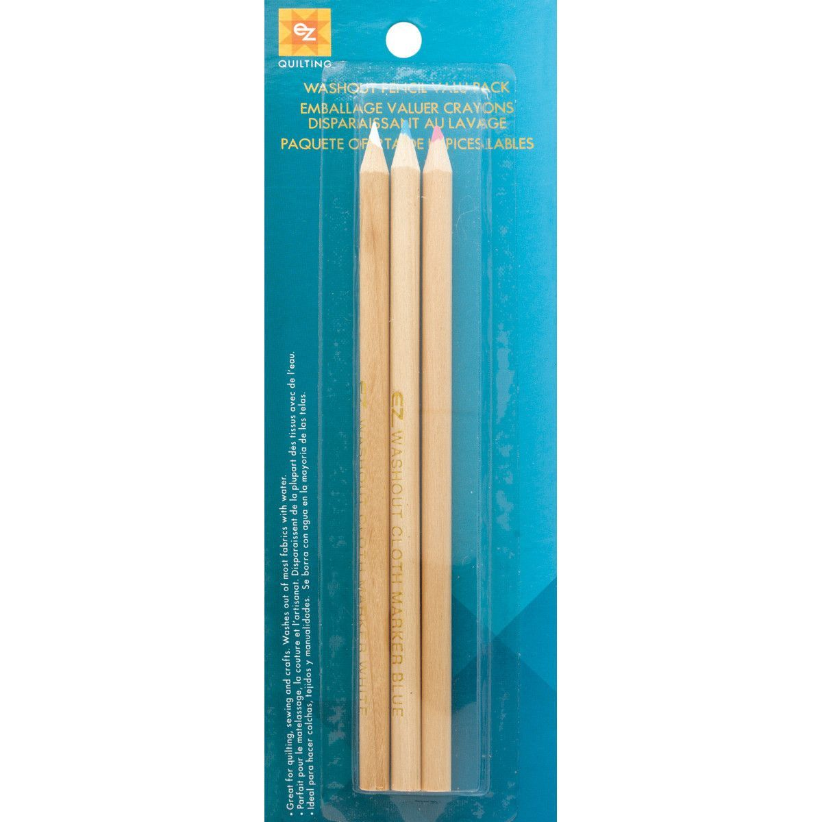 Washout Pencil Valu-Pak Red, White and Blue
