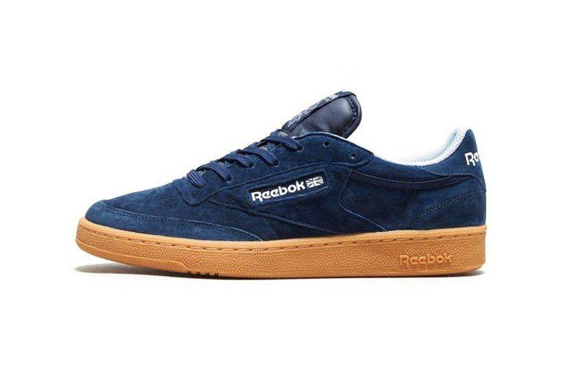 96214f81d5ca53 Reebok Classic Club C Indoor Suede Black Grey Navy Blue