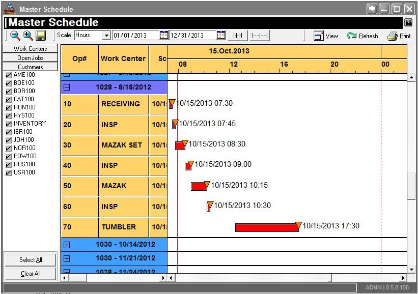 Pin by Nick Stonebraker on Manufacturing scheduling interfaces