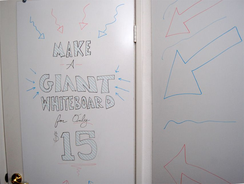 Make A Giant Whiteboard For Only 15 Primer White Board Diy Whiteboard Cheap Whiteboard