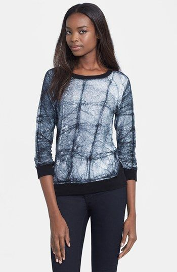 Whetherly 'Liam' Batik French Terry Sweatshirt available at #Nordstrom