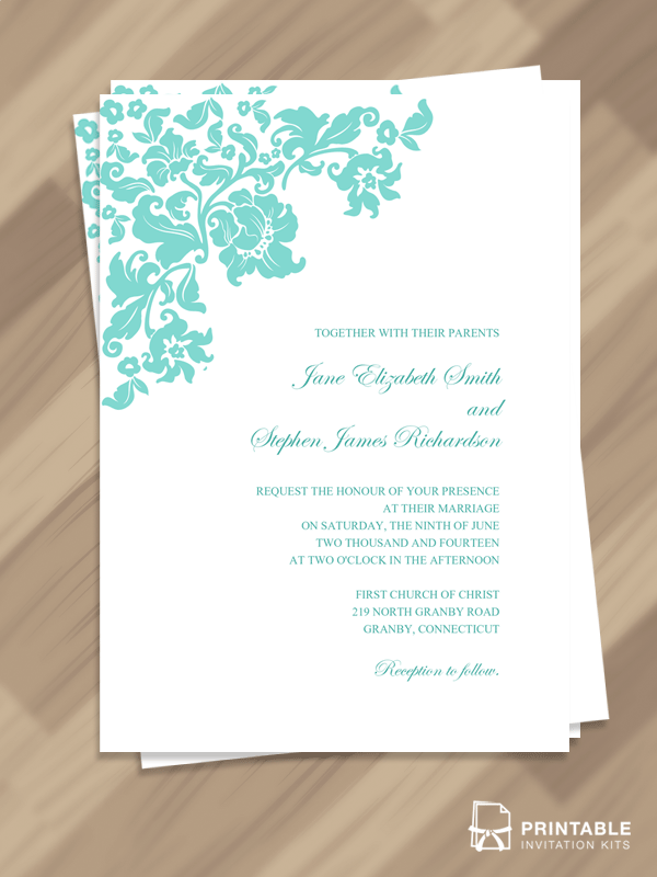 Free PDF Download Pretty Vintage Border Wedding invitation ...