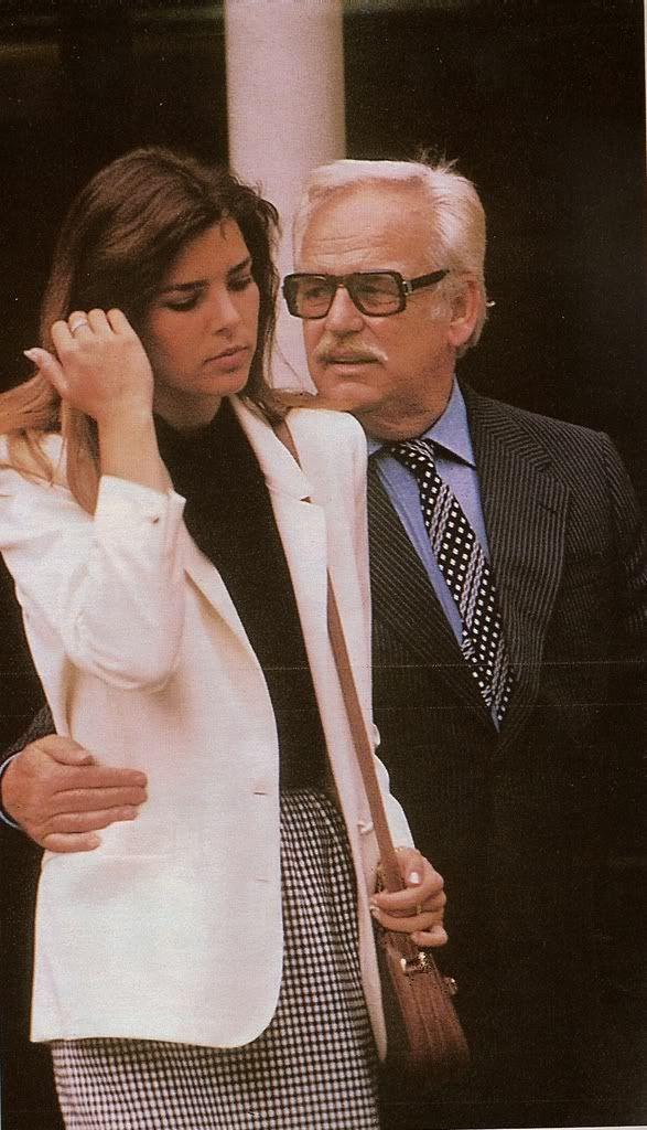 Princess Caroline of Monaco comfort from dad after her husband's death