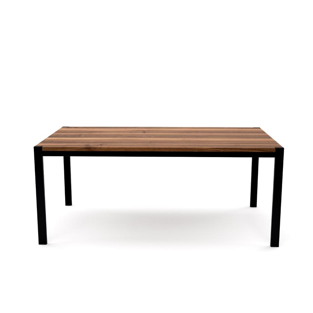 Tisch Ferrum 001 Holz Metall Nussbaum Schwarz Esstisch Gartentisch Stahlzart Mobel Moderne Designmobel Aus Holz Metall O Gartentisch Esstisch Tisch
