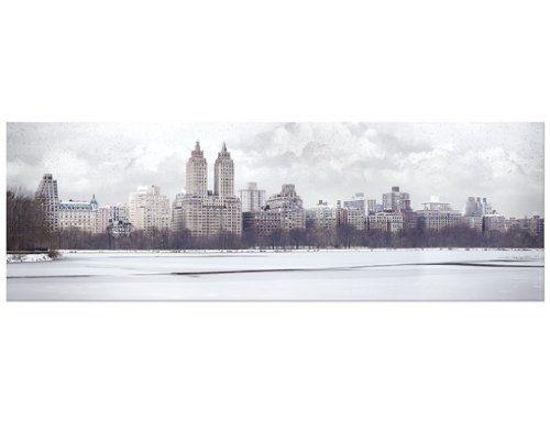 Stampe Moderne Cucina : Stampa su tela no.yk2 new york in snow panorama quadri su tela