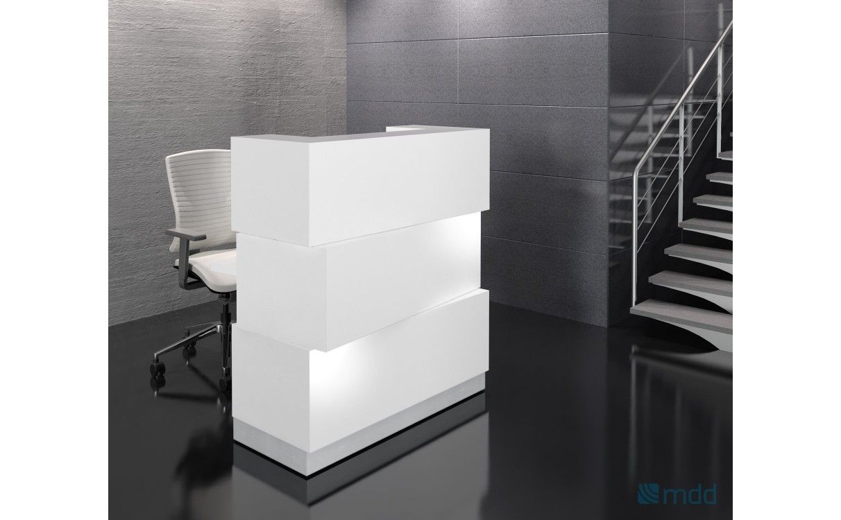 Zen Straight Reception Desk W Led Light Small Reception Desk