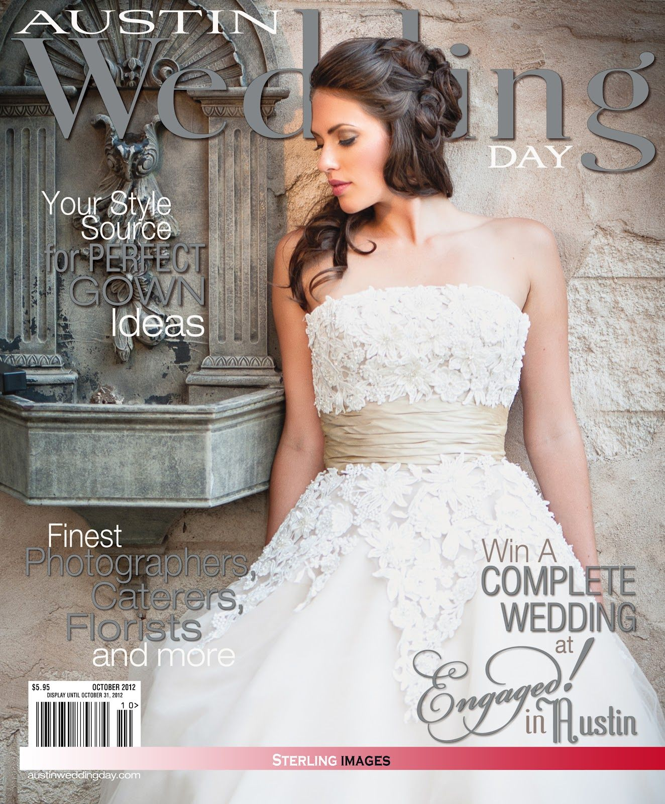 wedding makeup featured on the cover of Austin