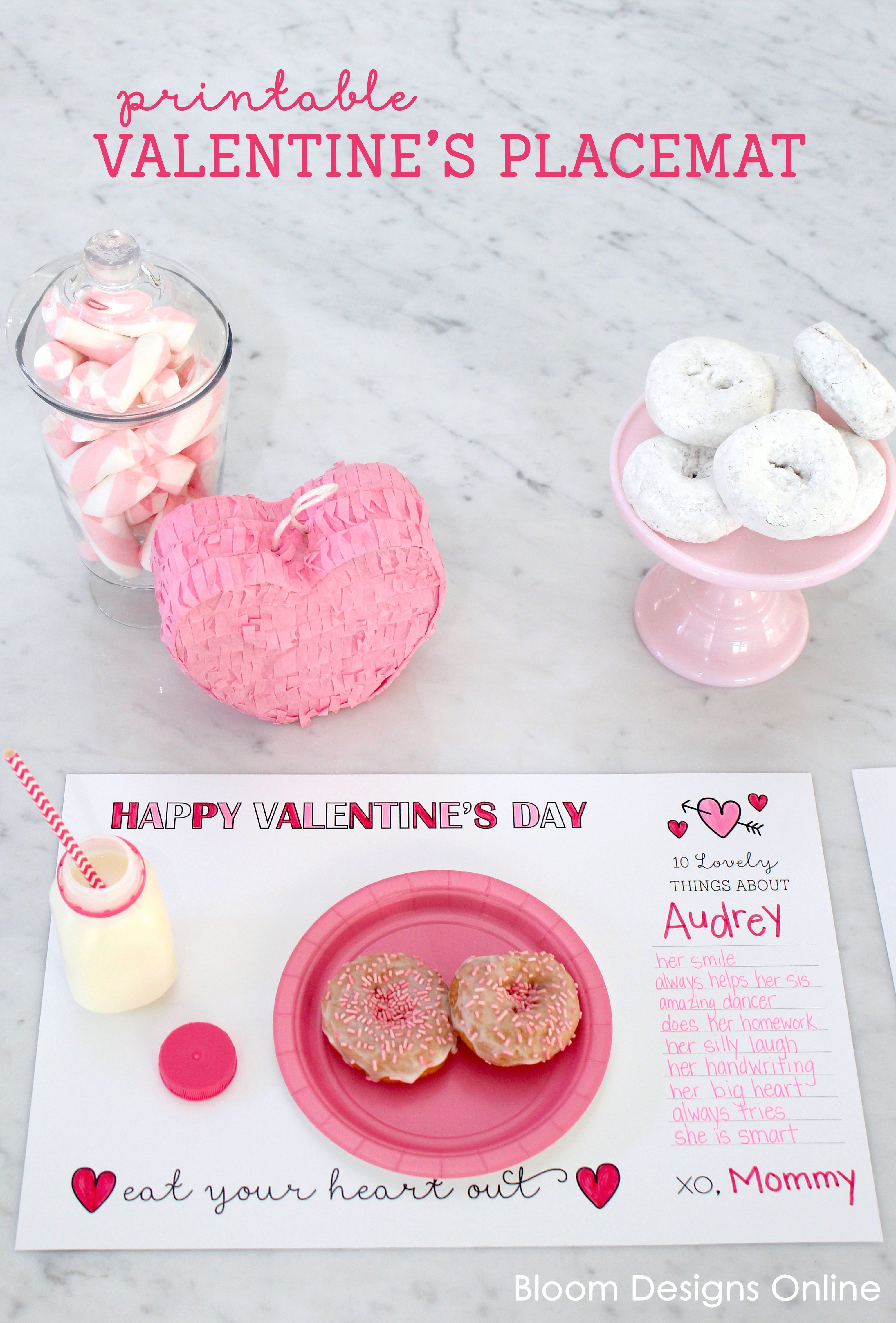 Printable Valentines Placemat Valentines Printables Valentines Printables Free Valentines For Kids