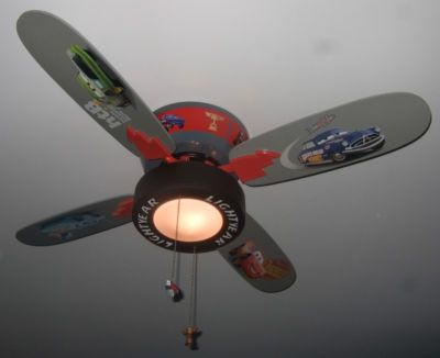 Disney pixar cars lightning mcqueen 4 blade 42 ceiling fan with disney pixar cars lightning mcqueen 4 blade 42 ceiling fan with tire light rare aloadofball Gallery