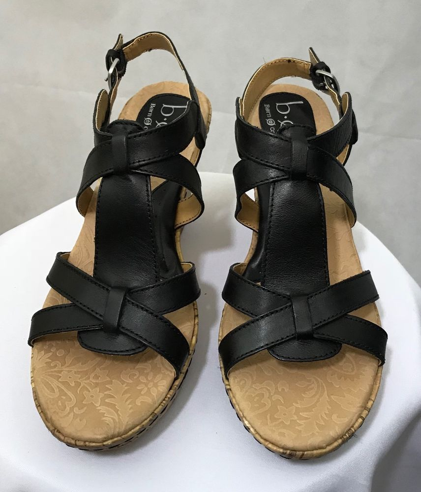 187fe6a77 Women s B.O.C. Born Concept Wedge Sandals Skitter BC3703 Black Size 9   fashion  clothing  shoes  accessories  womensshoes  sandals (ebay link)