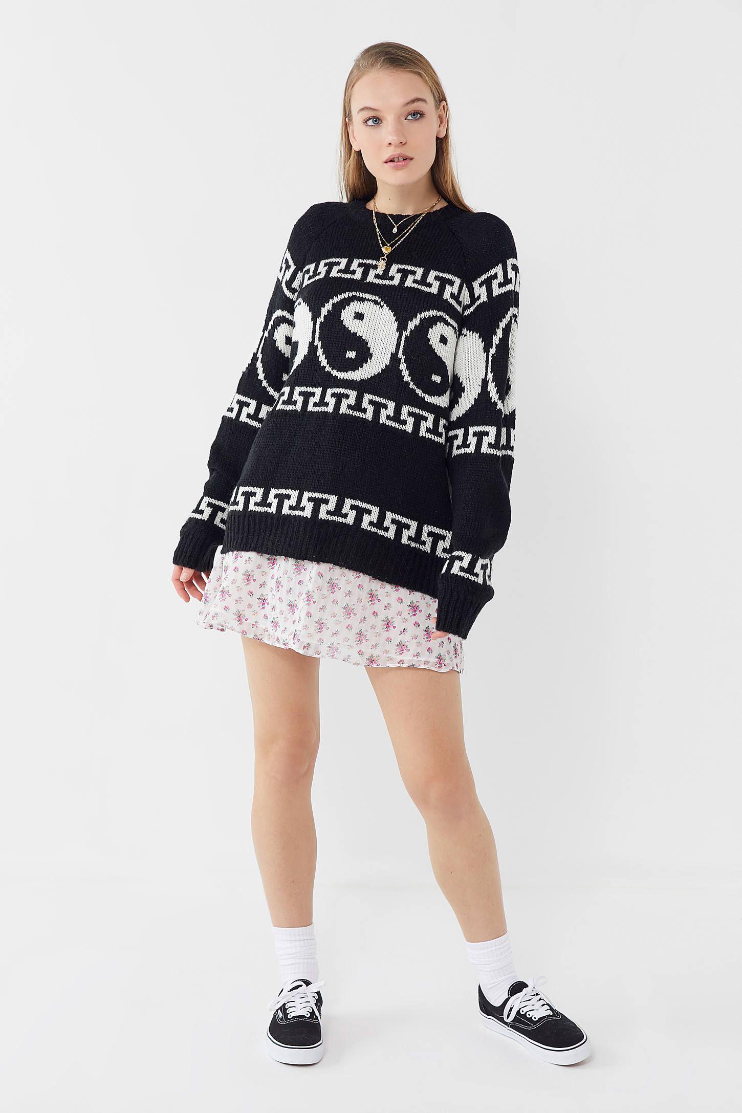 4a80717fa08 UO Yin Yang Intarsia Knit Sweater in 2019
