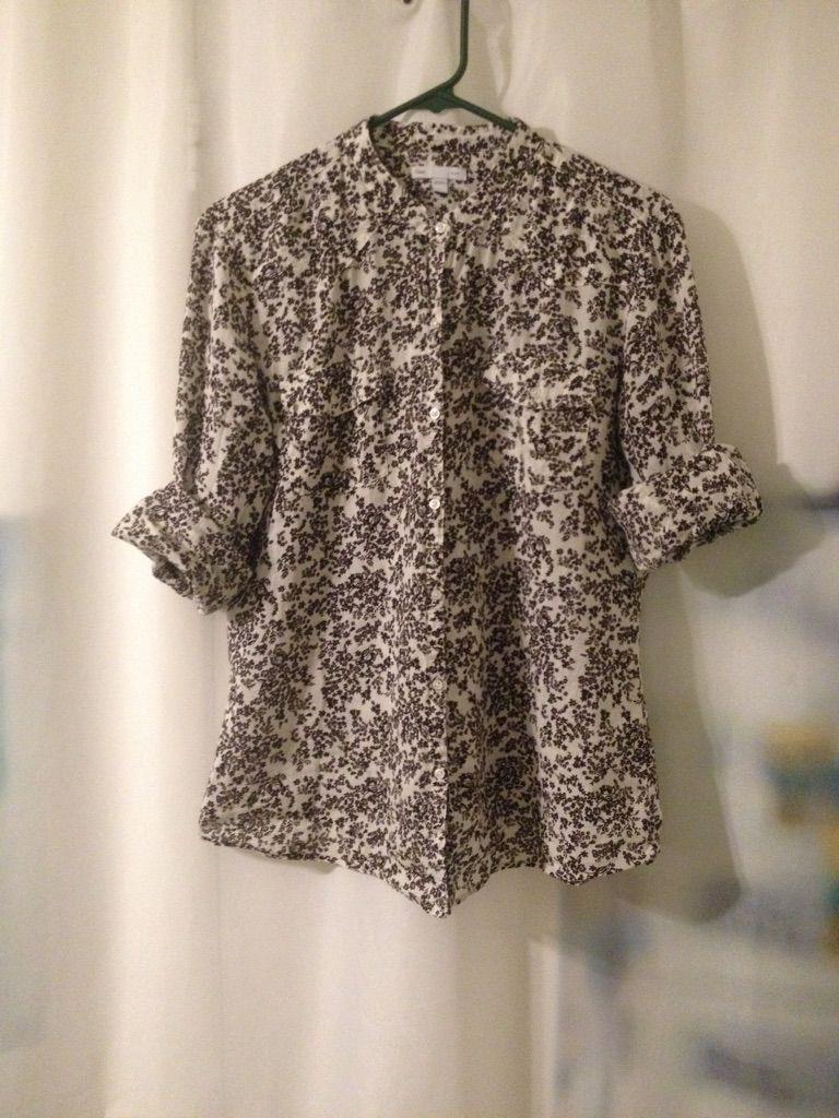 gap woven shirt found at savers $3 | my closet | pinterest