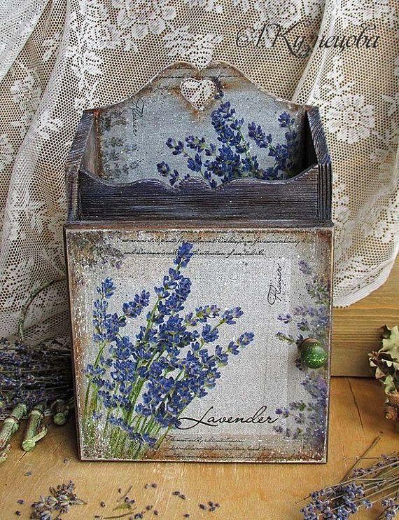 Decorative Key Box For The Wall Vintage Key Box Lavender Wall Key Holder Wooden Vintage Slyle