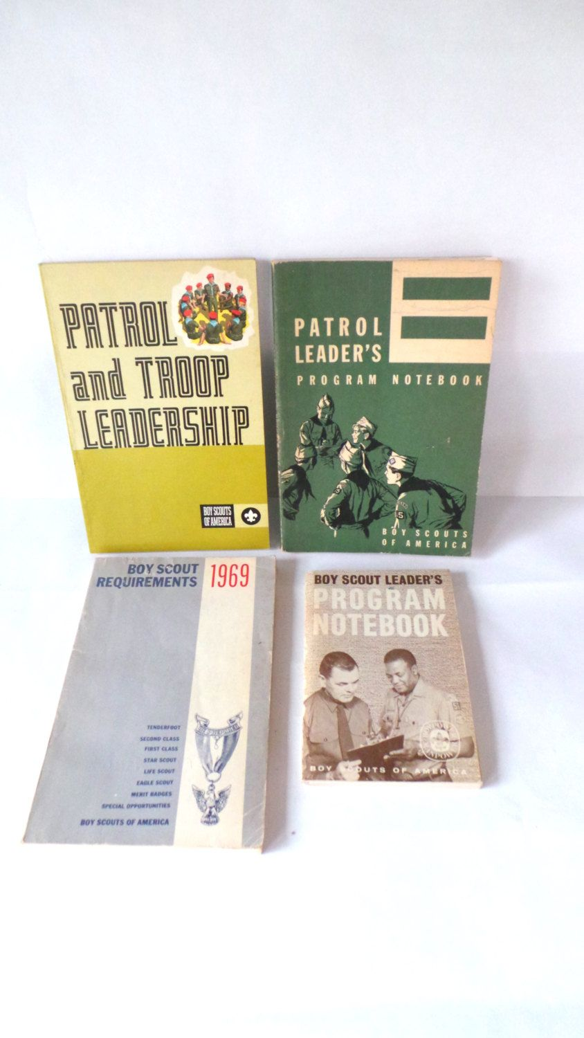 BSA Boy Scouts Books, Boy Scouts Vintage Books, Lot of Boy Scout Books - 1950s - 1970s by ClassicCamping on Etsy