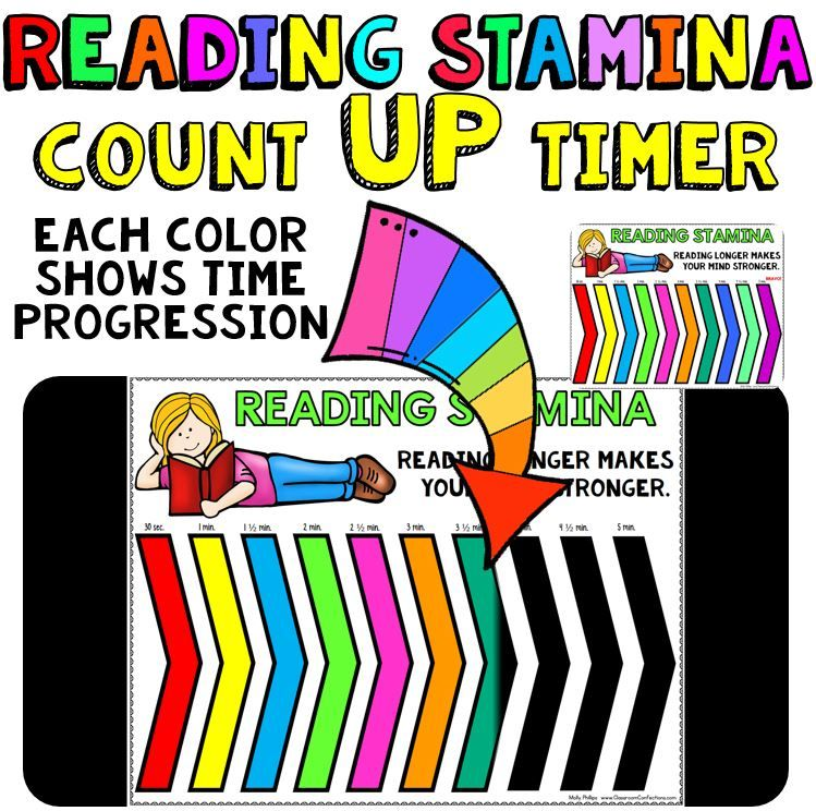 Timer For Reading Stamina Count Up 5 10 20 And 30 Minute