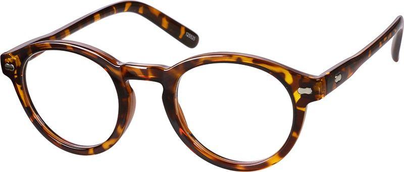bf490e3741 Glossy Tortoiseshell Round Eyeglasses