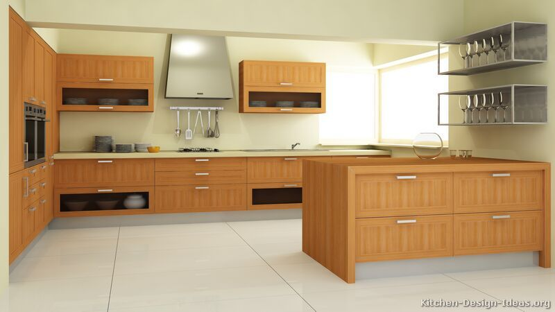 Kicthen Designs, Kitchen Cabinets Modern Light Wood Design: Small Modern Kitchen  Ideas