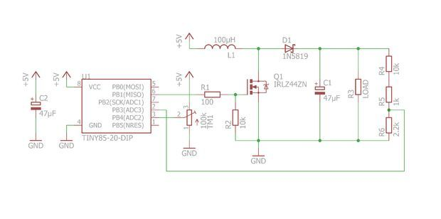 2 Amp Mc34063 Dc Boost Converter Schematic 3 7v To 12v Boost
