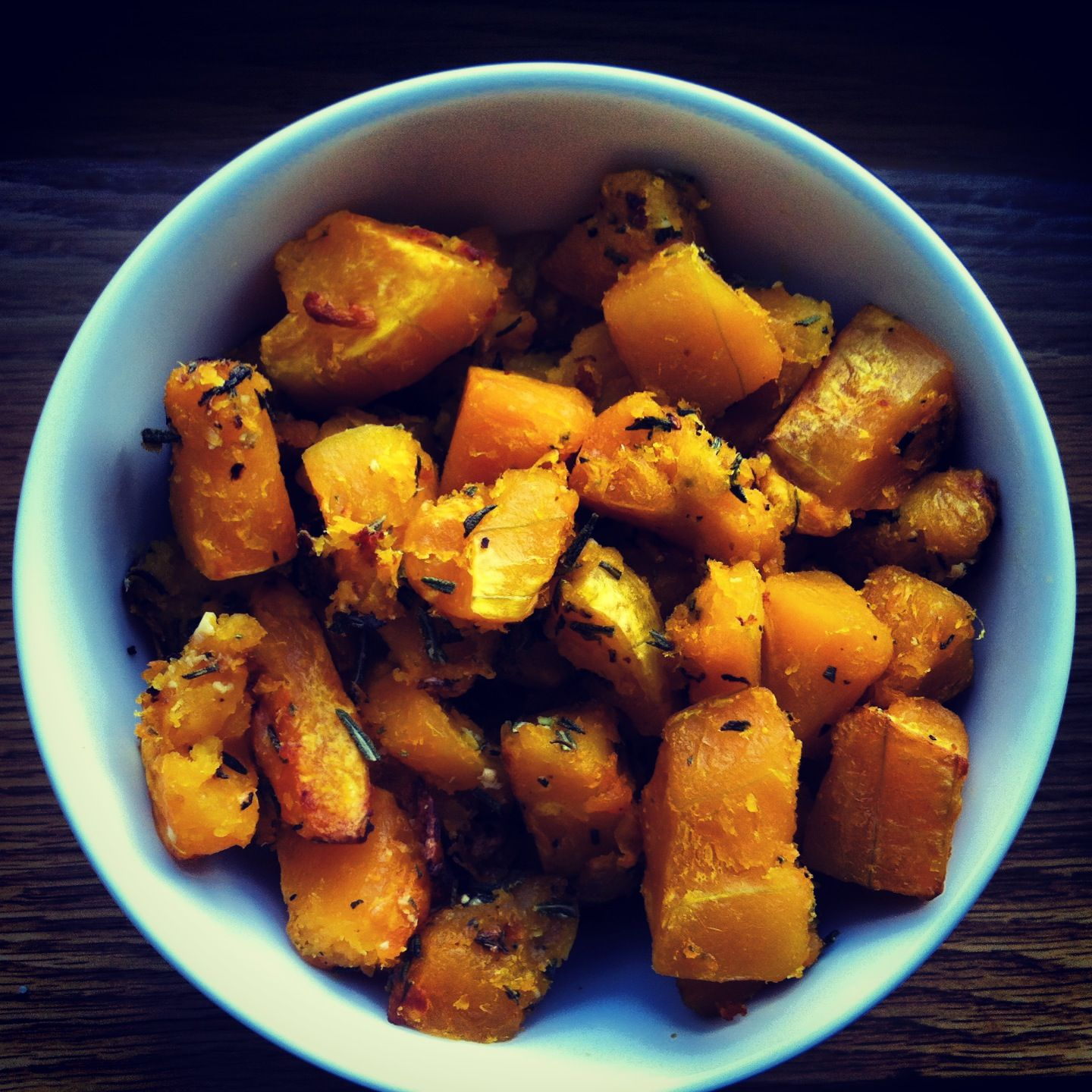 rosemary and garlic butternut squash from the domesticated wolf