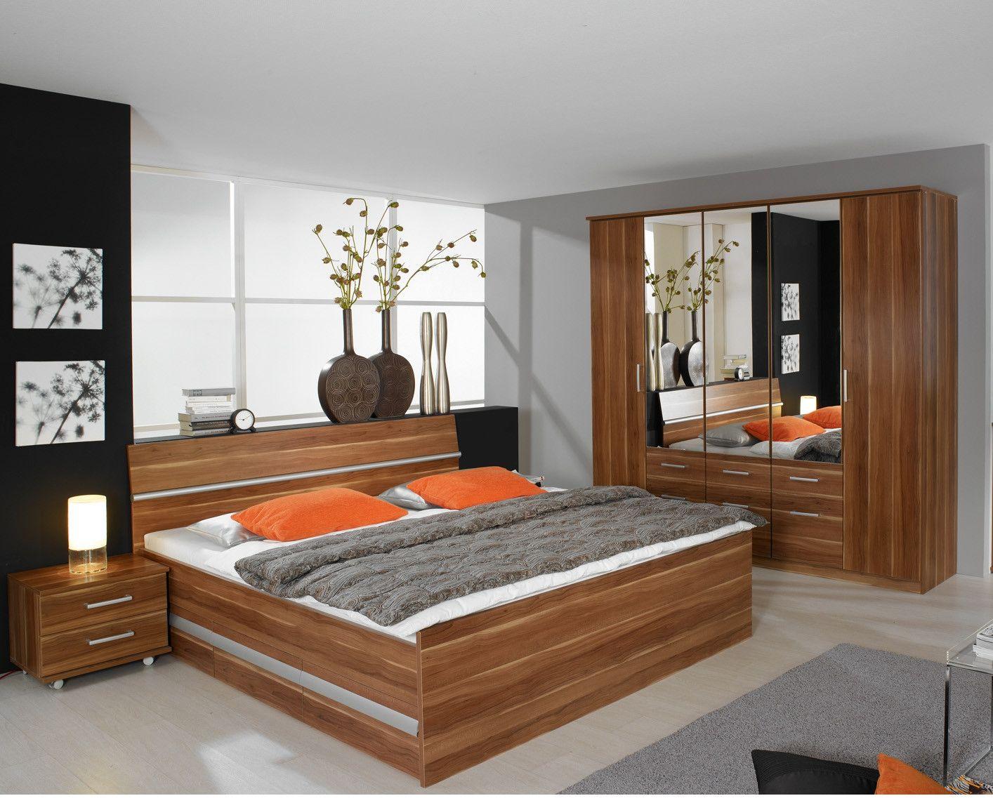 Schlafzimmer Komplettset Kernnuss Dekor Woody 3300157