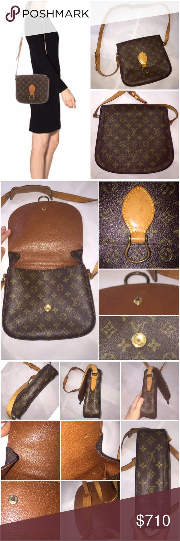 b896f5064d6b Authentic Louis Vuitton Monogram St. Cloud bag Monogram coated canvas LV St.  Cloud bag