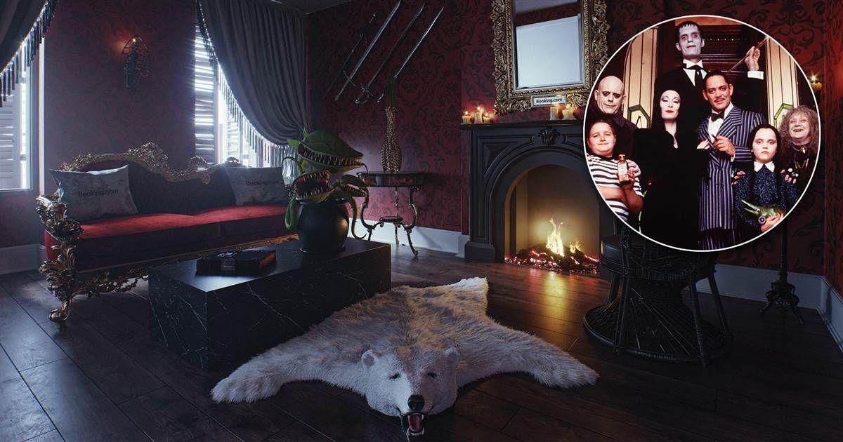 Just in time for Halloween you can stay overnight at The Addams Family' mansion