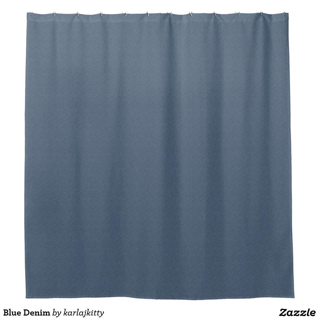 Blue Denim Shower Curtain Zazzle Com With Images Trendy