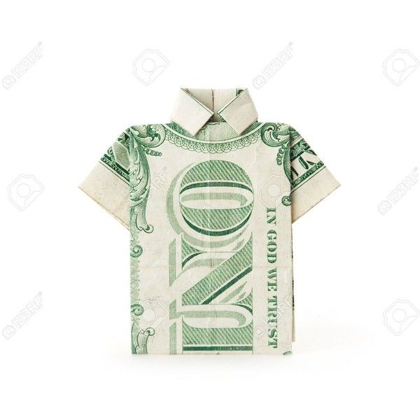 A Dollar Bill Folded Into A T Shirt Shape Stock Photo Picture