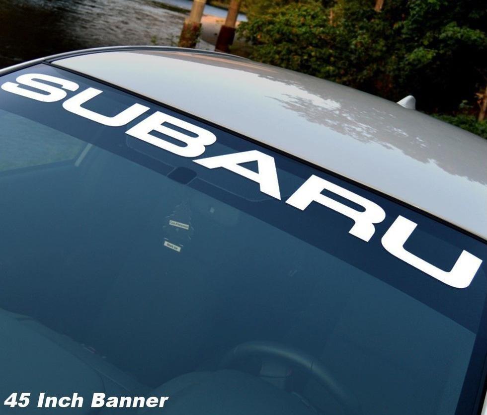 Subaru Windshield Vinyl Decal Sticker Window Decal Graphic Impreza Sti Wrx Jdm 1 Subaru Wrx Subaru Logo [ 835 x 980 Pixel ]