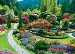 The Butchart Gardens - Sunken Garden 1000 Piece Eurographics Puzzle #butchartgardens