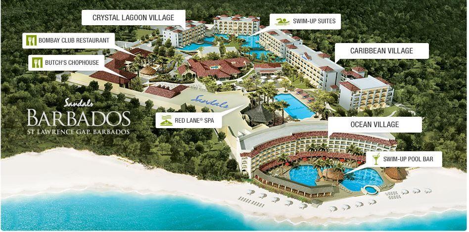 Image result for Sandals Barbados Map