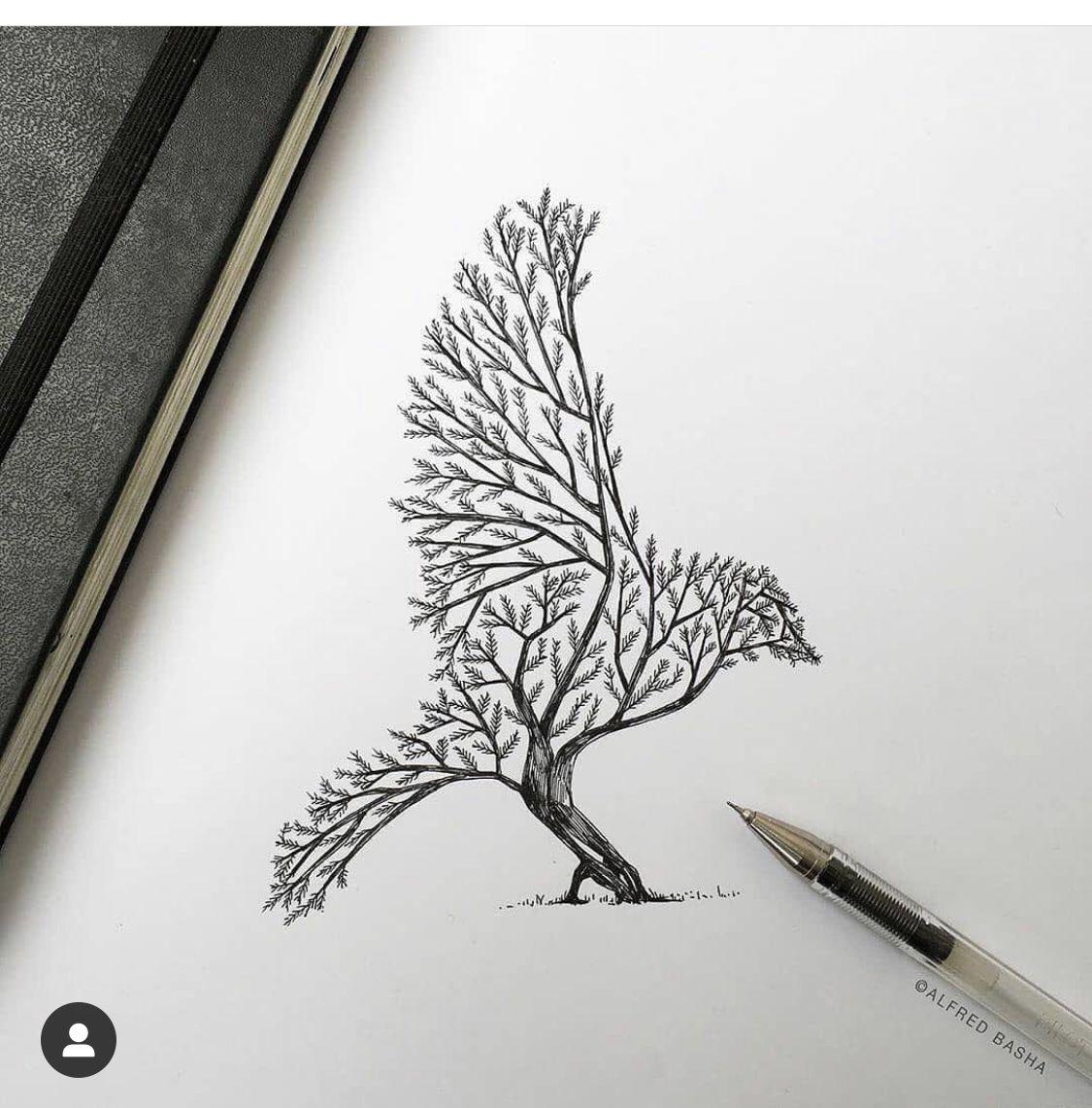 Pin De Plakhan En Arboles Tattoo Mejor Dibujo Dibujos De Pajaro Como Dibujar Cosas