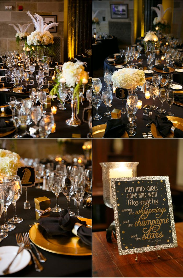 Black And Gold Gatsby Inspired Wedding A Paper Proposal