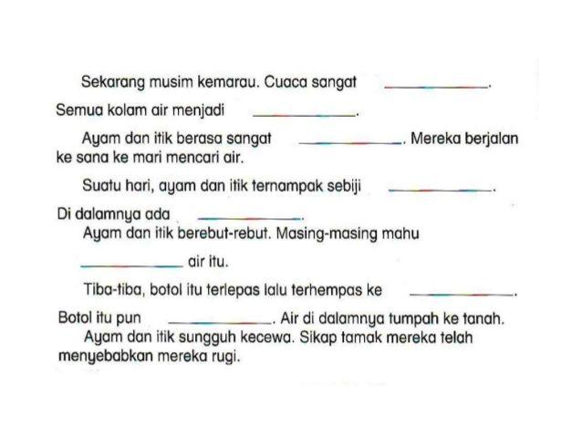 Latihan Penulisan Bmelayu Tahun 2 Grammar And Vocabulary Malay Language Vocabulary