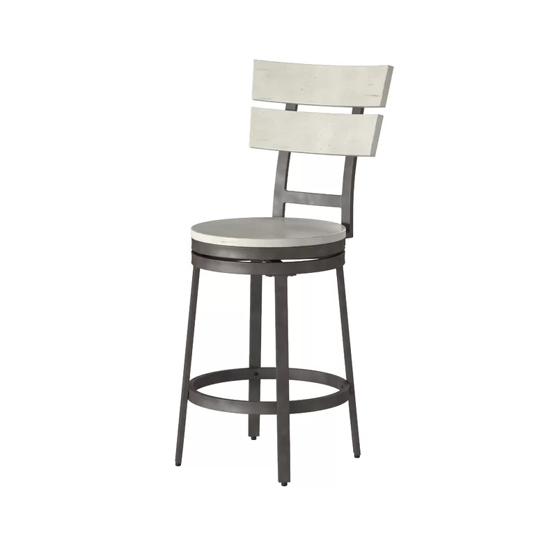 Dominika Swivel Solid Wood 24 Counter Stool In 2020 Counter Stools 24 Counter Stools Stool