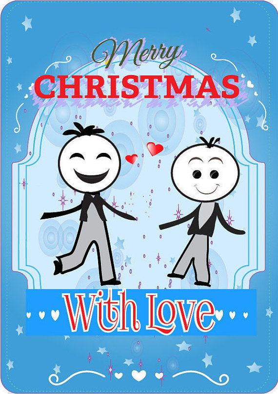 funny gay mens xmas day cards by peppermint2couk on etsy - Gay Valentines Cards