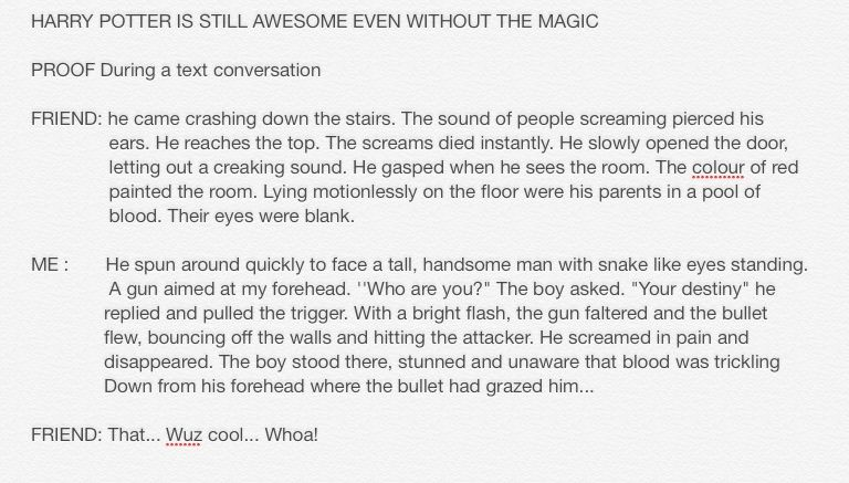 Harry potter is still awesome even at a different angle