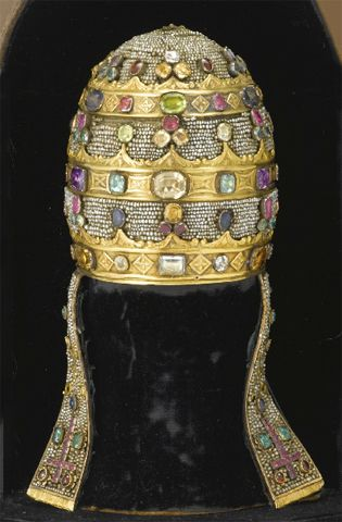 papal tiara or triregnum an italian model made for the