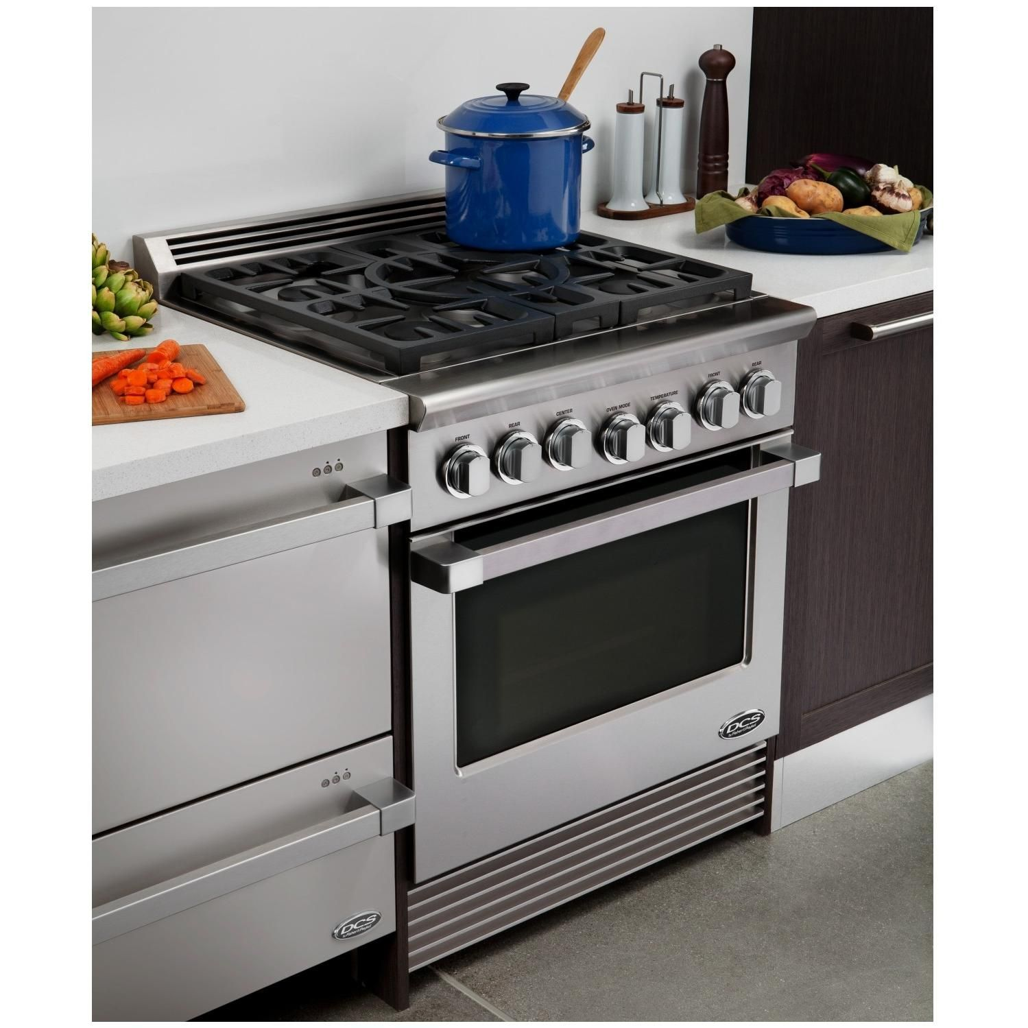 DCS Professional 30-Inch 5-Burner Natural Gas Range By Fisher Paykel ...