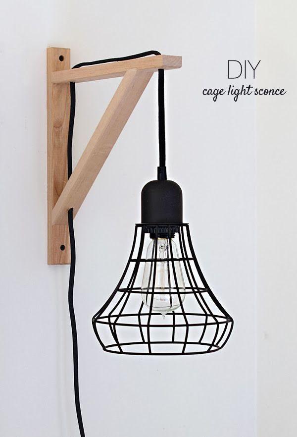 Make It Diy Cage Light Sconce Ikea Hack Ikea Hacks Diy Wand