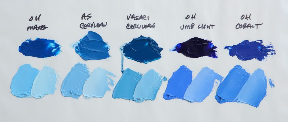 The Blue Colours In My Palette Bright Art Blue Art Watercolor