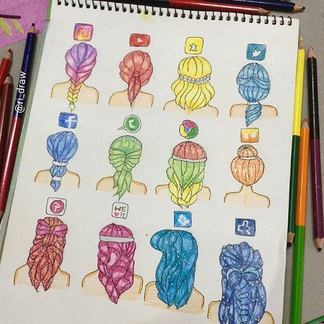 "26 tusind Synes godt om, 351 kommentarer – Art Sharing Page (@iartpost) på Instagram: ""Social media by @ri_draw  _ Follow @artistic_unity_  _ Follow @phanasu  _  #drawing #draw #sketch…"""