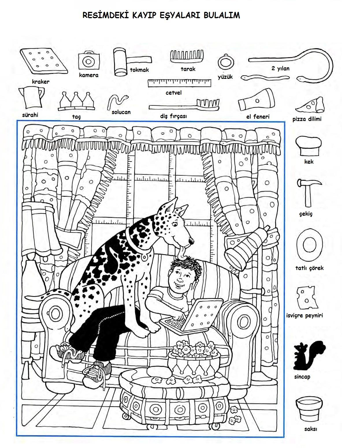 shake break hidden pictures puzzle worksheets for primary