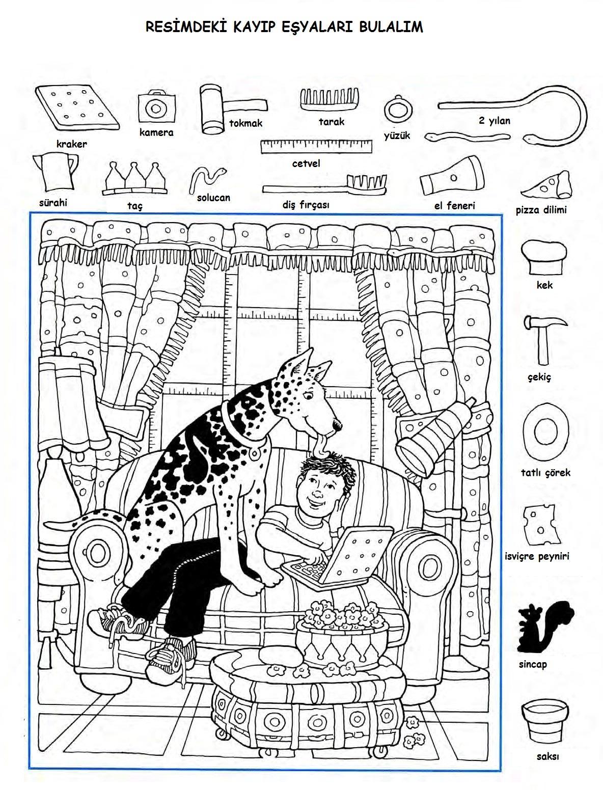 Image Result For Kayıp Eşya Bulma Etkinlikleri çizim Ve Boyama