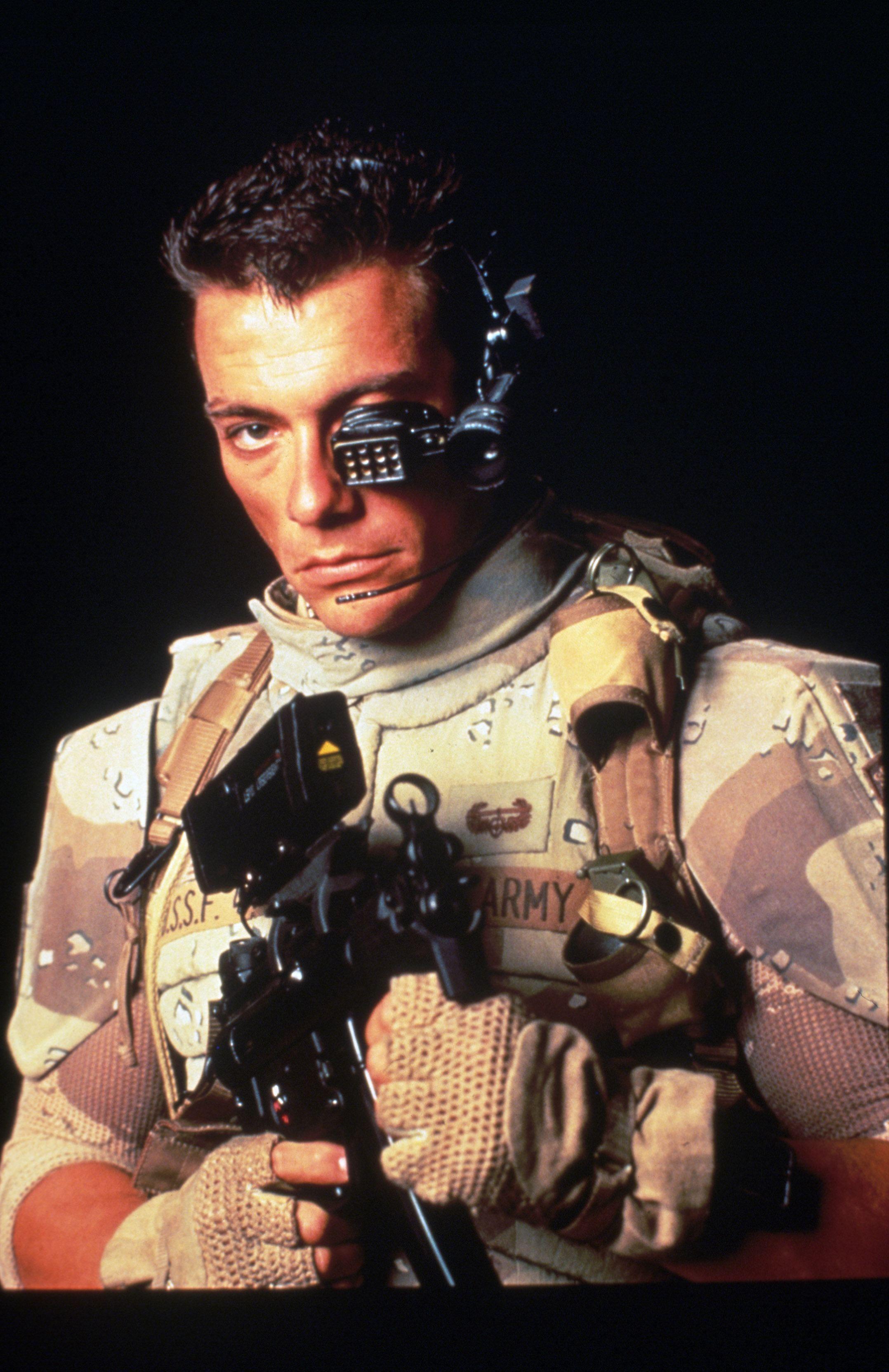 universal soldier promo shot of jeanclaude van damme action