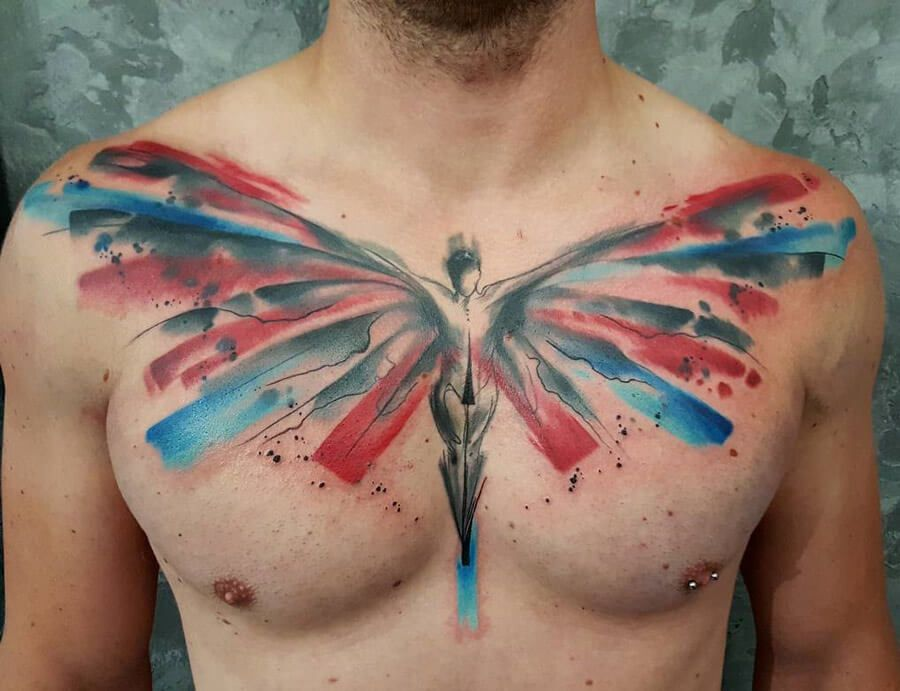 The 112 Best Watercolor Tattoos For Men Improb Watercolour Tattoo Men Tattoos For Guys Watercolor Tattoo